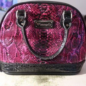 Handbags - Pink Snake Print Purse